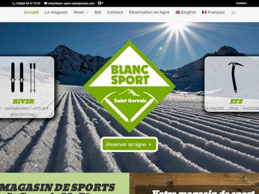 Blanc Sport Saint Gervais les bains